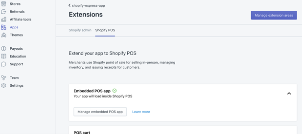 """Enabling """"Shopify POS"""" for the app"""