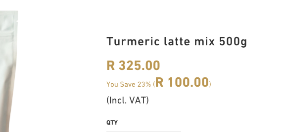 """Need to decrease font size of """"R100.00"""" only"""