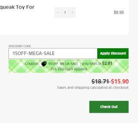 Example of Discount Widget