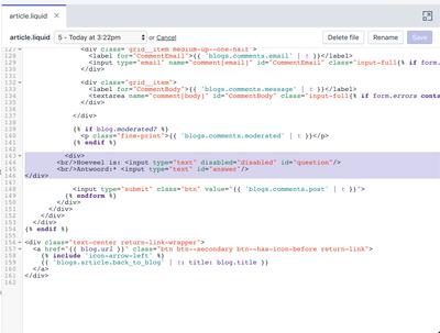 Seconde line of code