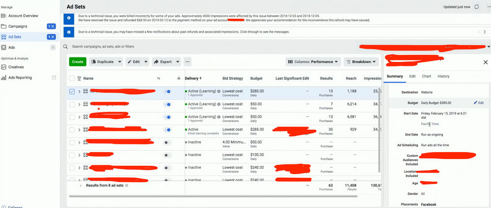 New Facebook Ad Manager Interface 2