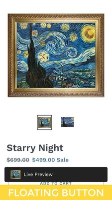 Art Preview on mobile browser