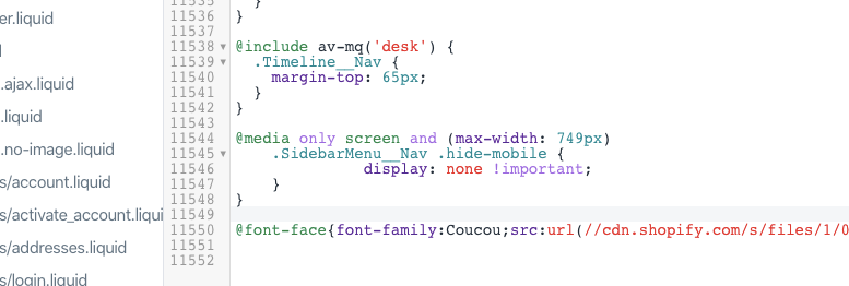 and added the line of css into the theme.scss.liquid