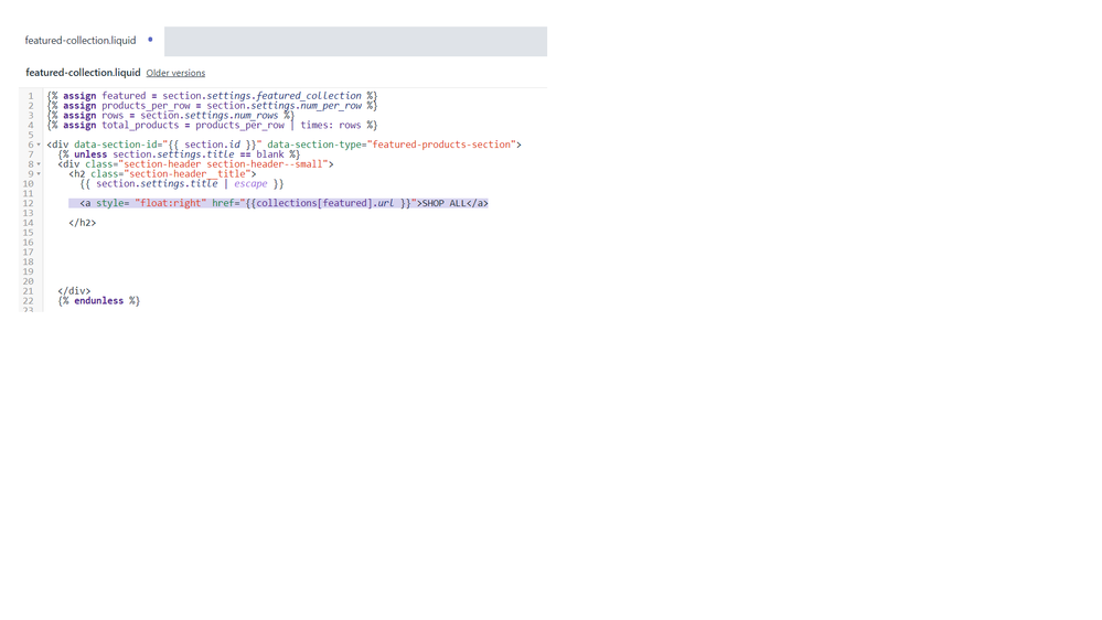code to add hyperlink to featured collection heading.png