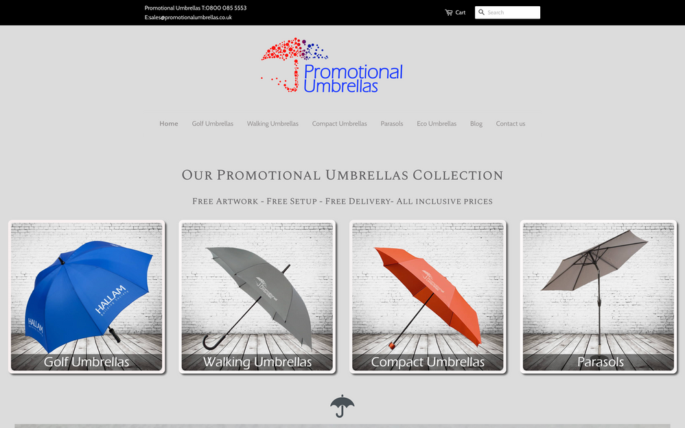 First Fold of Promotional Umbrellas