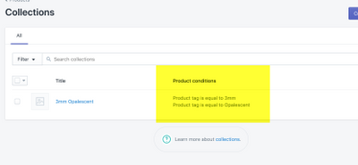 product tag conditions in product