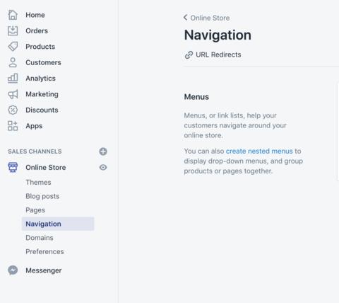 Shopify-Navigation-URL-Redirects