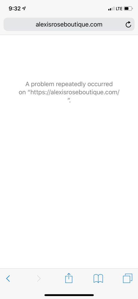 Problem Occurred