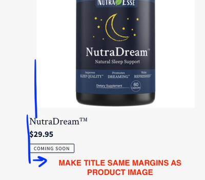 How can I align the product title with the product card on the Shop page?