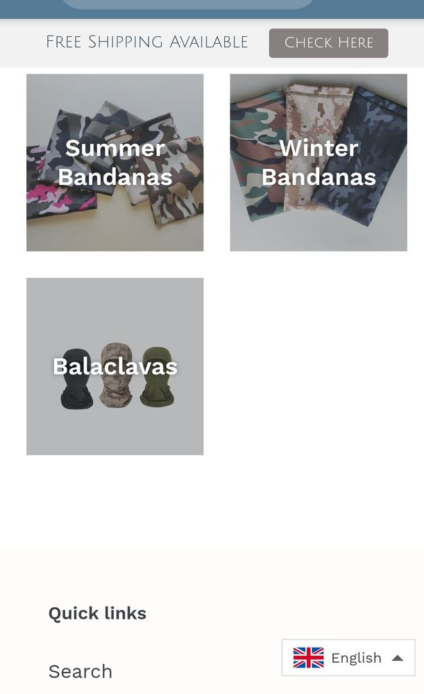 Collections Page (Phone)
