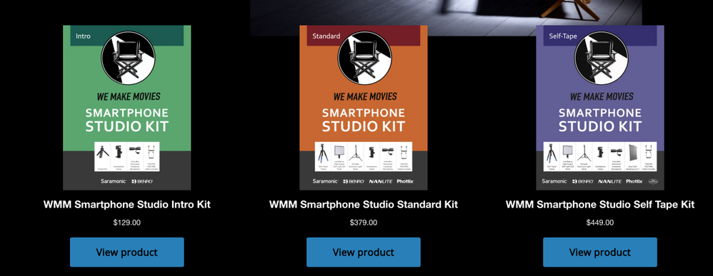 I'd like the graphic of each Smartphone Studio Kit to be linkable as well.