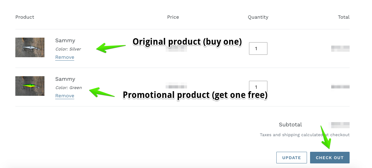 buy one get one free shopify