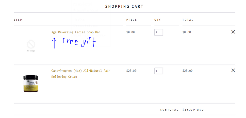 Free gift shopping cart example.PNG