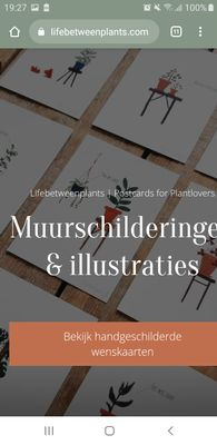 Its should state: muurschilderingeN ... the N is gone