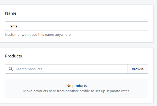 drill down shows no products, in fact this screen clears all the products as soon as you click save