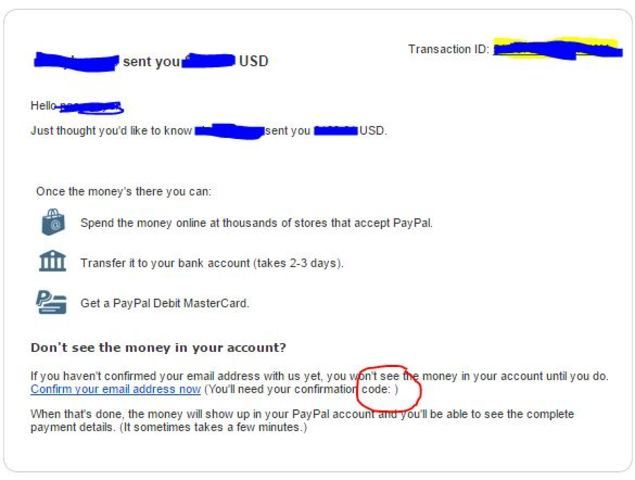 Send money to paypal email without account