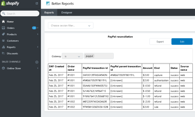 Reconciling PayPal Express Checkout - Shopify Community