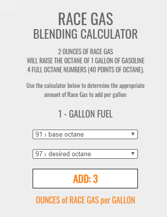 Gas amount calculator