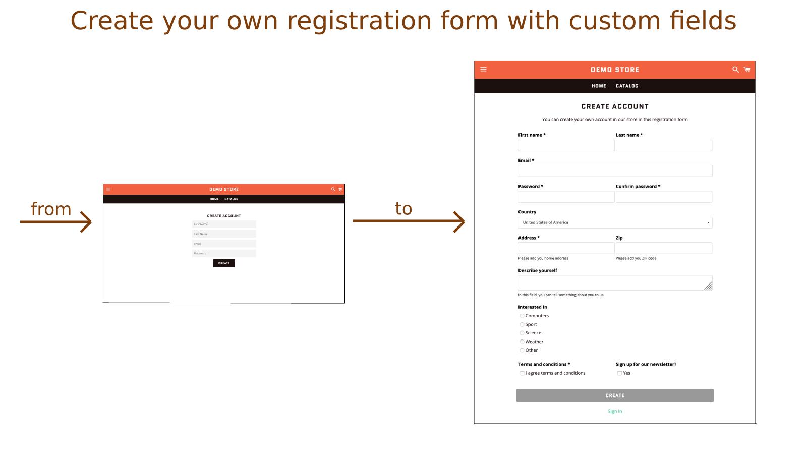 Solved: Customize registration form - Shopify Community