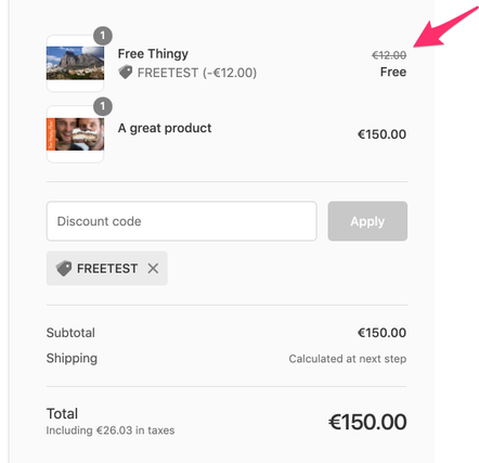 Product discount information missing in checkout w