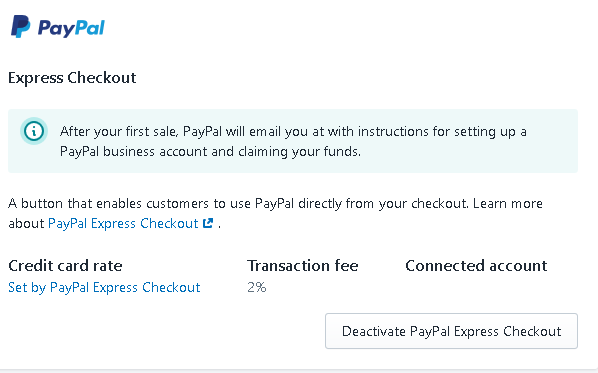 Re: Can't connect PayPal express checkout - Shopify Community