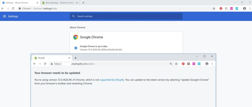 Solved: Shopify not working in latest version of Chrome - Shopify