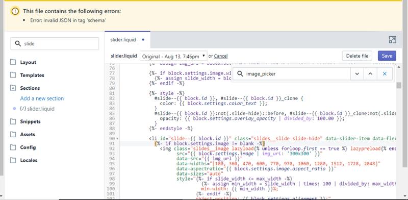 clickable rotator - json error.png
