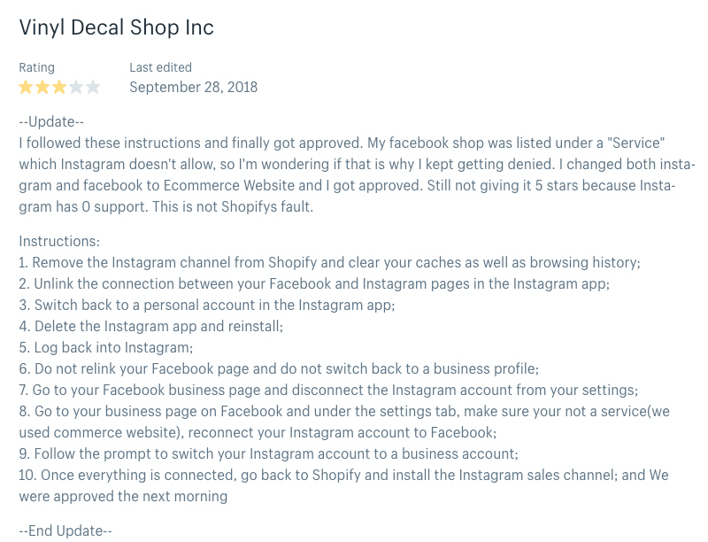 Your store isn't eligible for Instagram product ta    - Shopify