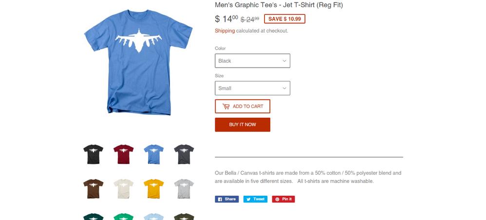 Men's Graphic Tee's - Jet T-Shirt (Reg Fit) _ .223 Digital Art.png