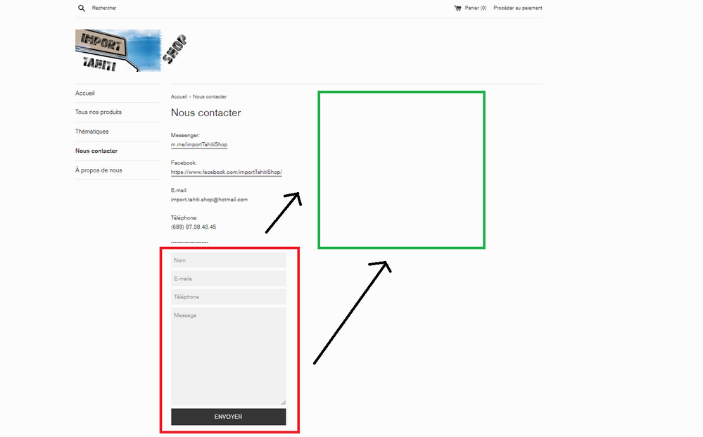 Solved: Float the contact form layout at the right of my