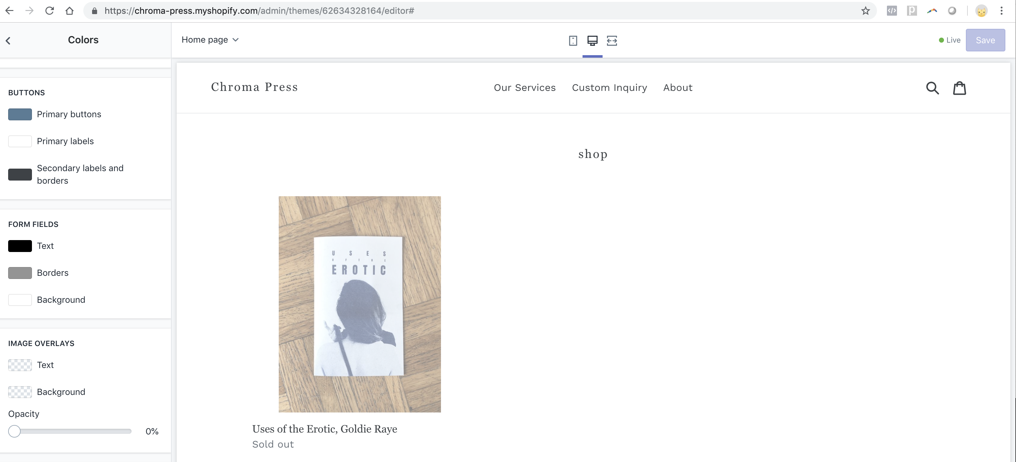 Debut theme - how to remove grey overlay from the     - Shopify
