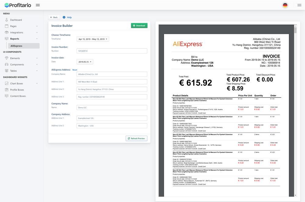 Solved Generate Aliexpress Invoice For Free Profitario