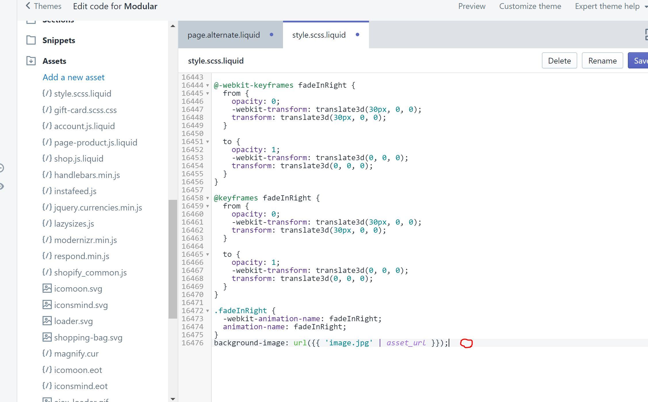 Modular Theme - Individual Page Background Image - Shopify