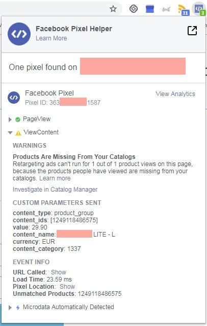 Solved: FB Pixel not matching Products with Catalogue (bee