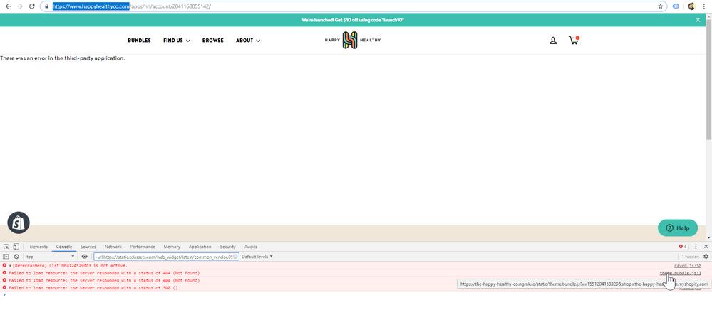 Re: Site/Console Errors - Please advise  - Shopify Community