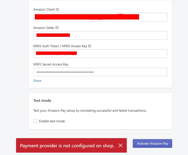 Amazon Pay - Shopify Community