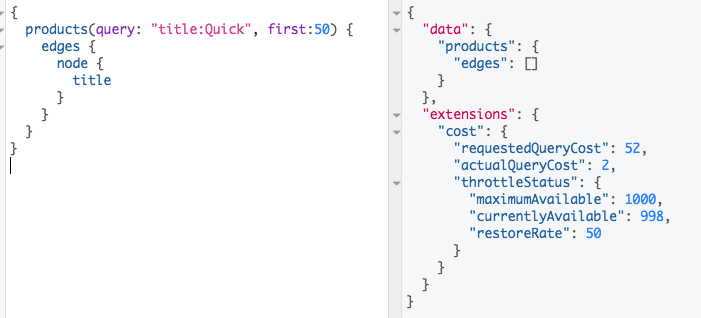 Solved: GraphQL querying field with single word returns no